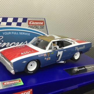 Carrera D132 30945 Plymouth Road Runner #7 1/32 Slot Car.