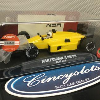 NSR NSR0119IL Formula 86/89 Yellow 1/32 Slot Car.