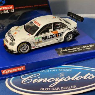 Carrera D132 30502 Mercedes DTM Green. Lightly Used.
