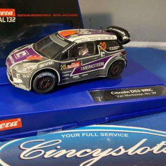 """Carrera D132 30617 CITROEN DS3 WRC """"Van Merksteijn No. 20"""" Rally, USED."""