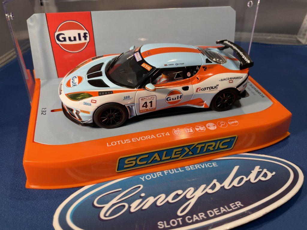 Scalextric C4183 GULF Lotus Evora.