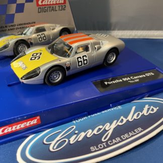 Carrera D132 30902 Porsche 904 Carrera GTS #66 1/32 Scale Slot Car. USED.