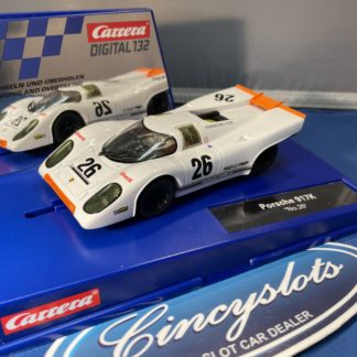 Carrera D132 30888 Porsche 917k #26 1/32 Scale Slot Car. USED