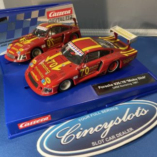 Carrera D132 30855 Porsche 935/78 Momo Moby Dick Norising Digital Slot Car. USED