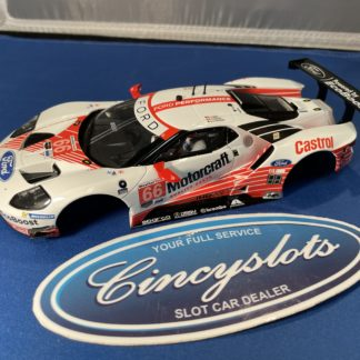 Carrera D124 23870 Motorcraft Ford GT BODY AND INTERIOR ONLY.