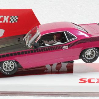 SCX Limited Edition 1970 Cuda 1/32 Slot Car Pink. 500 pieces