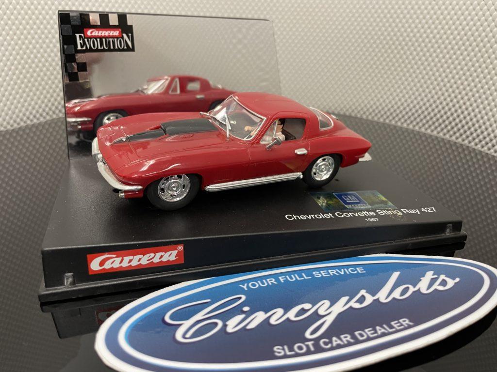 Carrera Evolution 25429 Chevy Corvette Sting Ray 427 1/32 Slot Car, Used.