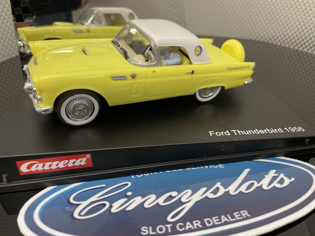 Carrera Evolution 25443 Ford Thunderbird 1/32 Slot Car, Lightly Used.