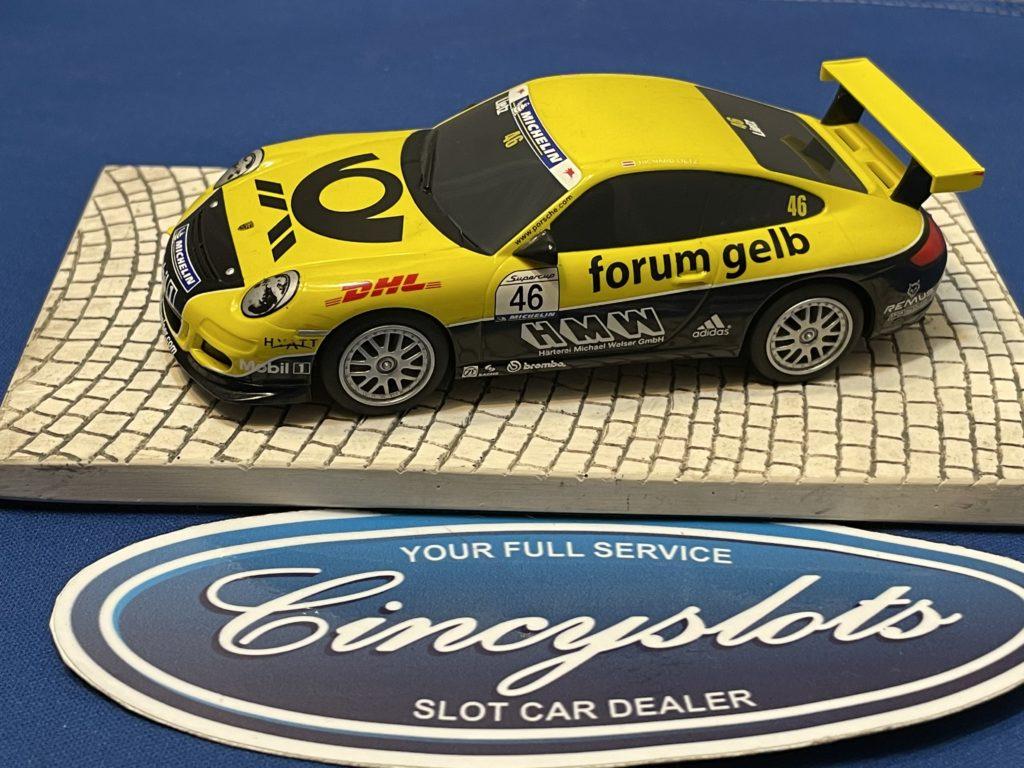 Scalextric Porsche GT3 1/32 Slot Car Forum Gelb Used