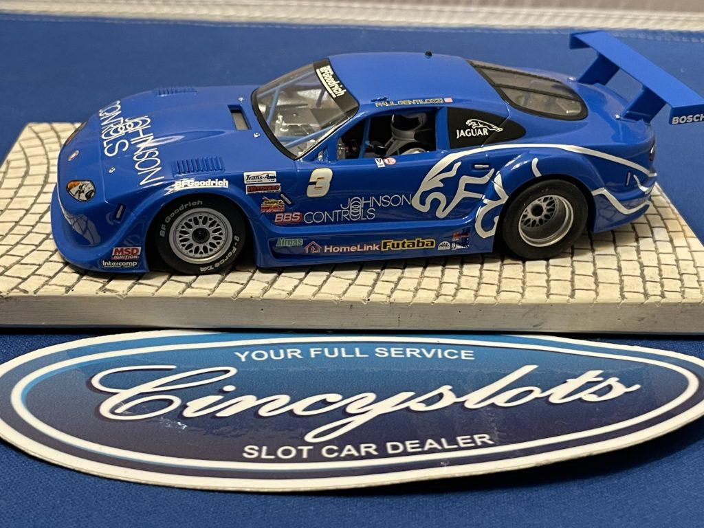 Scalextric Jaguar XKRS Slot Car Blue Used
