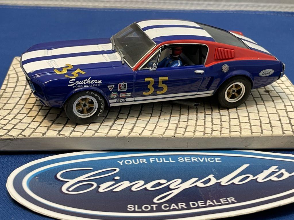 Pioneer Mustang #35 Blue 1/32 Slot Car Used.