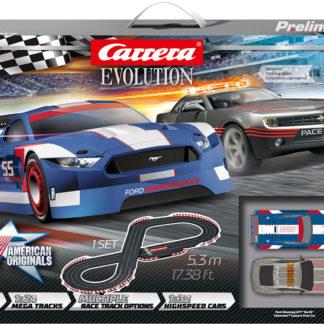 Carrera 25236 Evolution Break Away 1/32 Slot Car Set.