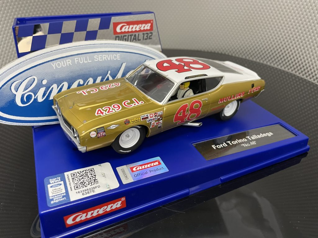 Carrera D132 30981 Ford Torino Talladega #48 1/32 Slot Car.