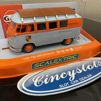 Scalextric C4217 VW T1b Microbus ROFGO Gulf 1/32 Slot Car.