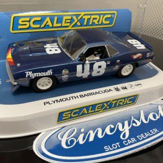 Scalextric C4219 Plymouth Barracuda Gurney 1/32 Slot Car.