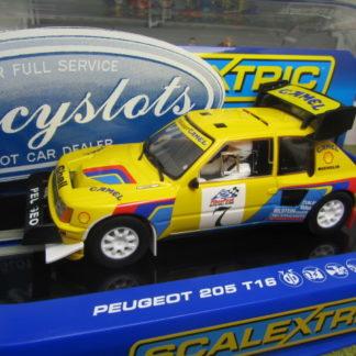 Scalextric C3641 Peugeot 205 T16 Camel