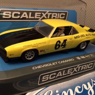 Scalextric C3724 Mid-Del Auto Parts Chevrolet Camaro