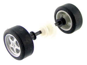Scalextric W8913 rear axle assembly Mini Cooper