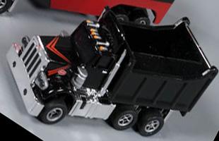 Autoworld Black Dump Truck Racing Rigs Xtraction