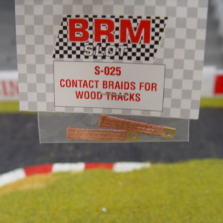 BRM S-025 Contact Braids for Wood Tracks Pair
