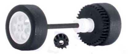 Scalextric W9414 rear axle assembly Mini Cooper S