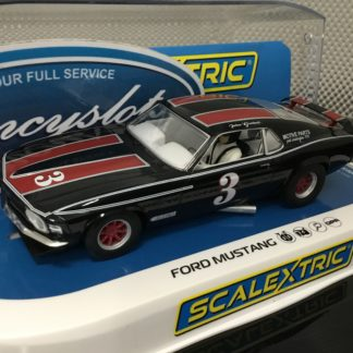 Scalextric C4014 Ford Mustang Trans Am 1972 John Gimbel 1/32 Slot Car.