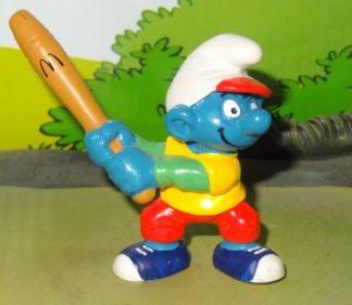 Smurfs 1997 McDonalds Promo BASEBALL SMURF Happy Meal Rare Vintage Toy Figure box 4