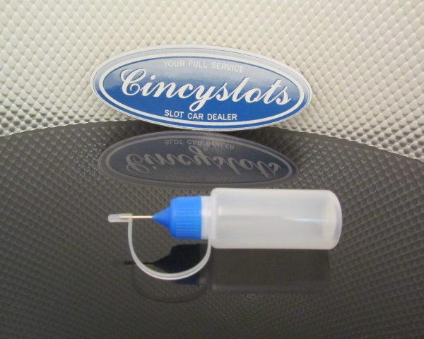 Metal needle bottle LDPE 15ml with screw cap.