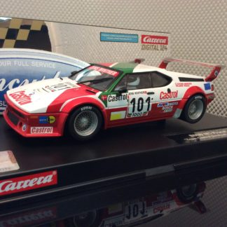 Carrera D124 23842 BMW M1 Procar Racing #101 Slot Car
