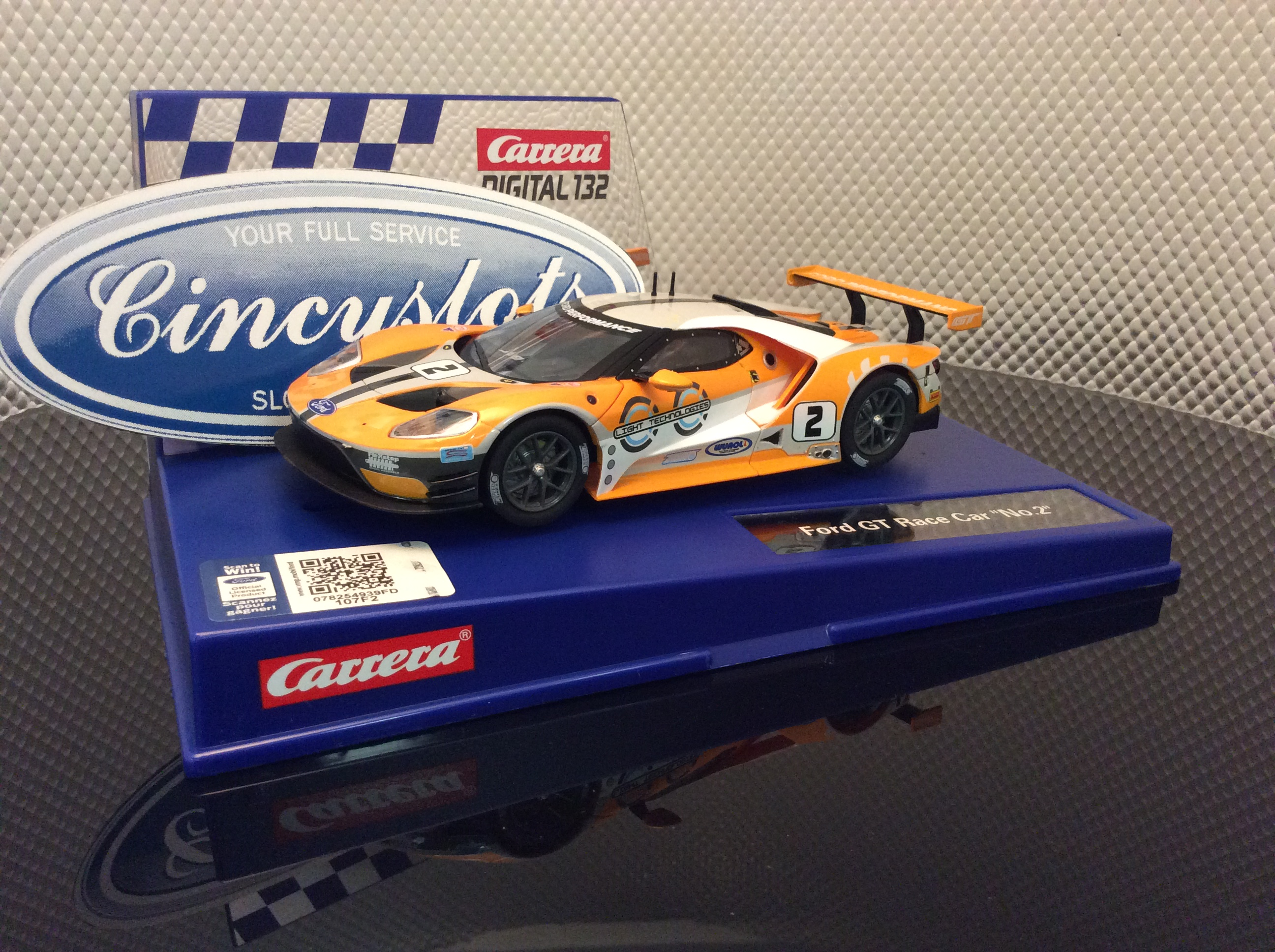 carrera d132 30786 ford gt race car 2 slot car. Black Bedroom Furniture Sets. Home Design Ideas