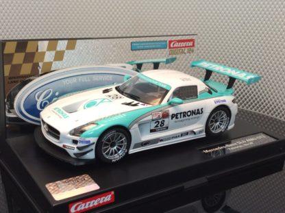 Carrera D124 23837 Mercedes Benx SLS AMG GT3 Petonas #28 Slot Car