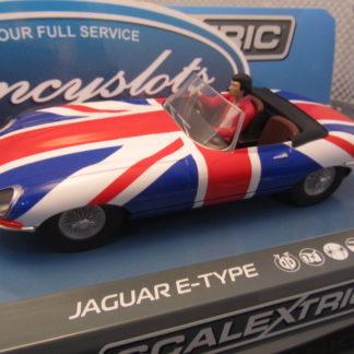 Scalextric C3878 Jaguar E-Type Union Jack Slot Car