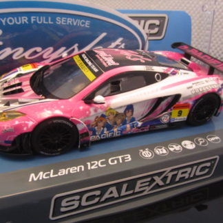 Scalextric C3849 McLaren 12C GT3 Pacific Racing #9 Slot Car
