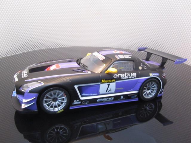 Carrera d124 23812 mercedes benz sls amg gt3 race ready used for Mercedes benz sls amg gt3 price