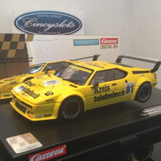 Carrera D124 23855 BMW M1 Procar #81 Winkelhock Digital Slot Car.