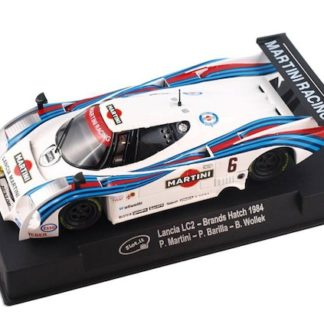 Slot.it SICA08f Lancia LC2 Brands Hatch 1984 Martini #6 Slot Car.
