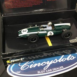 Scalextric Sport C2639A Classic Cooper Climax T53 #2 Jack Brabham.