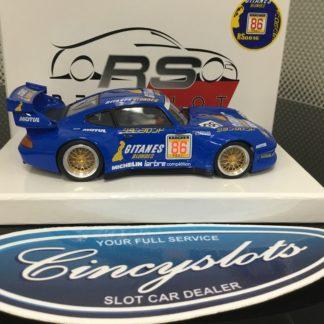 Revo Slot RS0016 PORSCHE 911 GT2 Blue Gitanes #86.