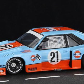 Sideways SWHC05 Ford Mustang Turbo Gulf Racing Zakspeed 1/32 Slot Car.