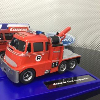 Carrera D132 30861 First Responder Fire Truck 1/32 Slot Car.
