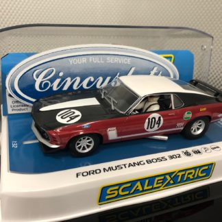 Scalextric C3926 Ford Mustang Boss 302 1970 British Saloon #104. 1/32 Slot Car.