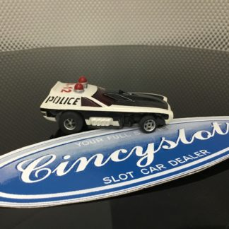 AFX SPEED STEER A-12 POLICE HO SLOT CAR, LOOKS NEW.