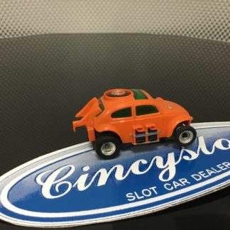 AFX ORANGE BAJA BUG HO SLOT CAR, USED NO ENGINE DETAIL.