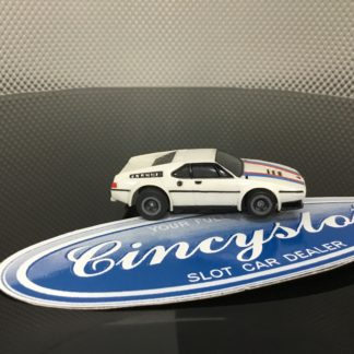 Aurora AFX BMW M1 GREY WHEELS NEW HO SLOT CAR, LIGHTLY USED.