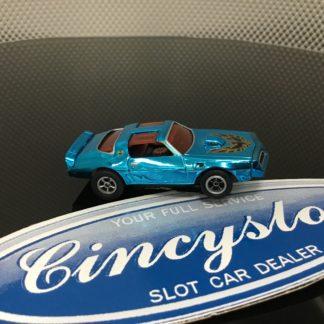 Autoworld BLUE CHROME TRANS AM HO SLOT CAR.
