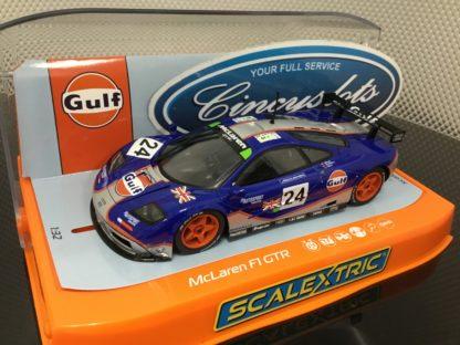 Scalextric C3969 McLaren F1 GTR Gulf. 1/32 Slot Car.