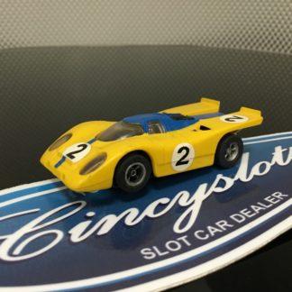 Aurora AFX Porsche 917k Blue/Gold HO SLOT CAR, USED.