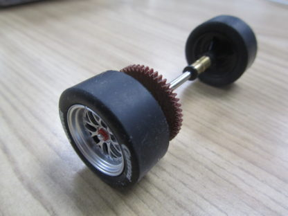 Carrera 85413 85423 Z50 Rear Axle with Stock Tires for Porsche 997, NEW.