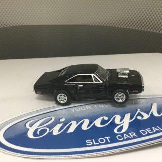 AUTOWORLD FAST & FURIOUS DODGE CHARGER BLACK HO SLOT CAR. NEW.
