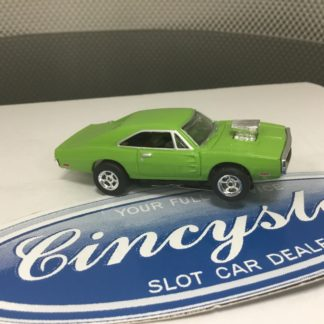 AUTOWORLD FAST & FURIOUS DODGE CHARGER LIME GREEN HO SLOT CAR. NEW.